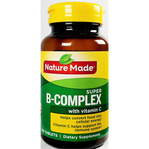 Nature Made Super B-Complex with Vitamin C (Immune Support), 140 Tablets