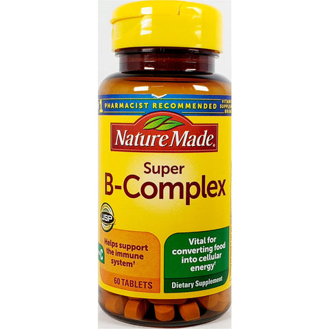 Nature Made Super B-Complex with Vitamin C (Immune Support), 60 Tablets
