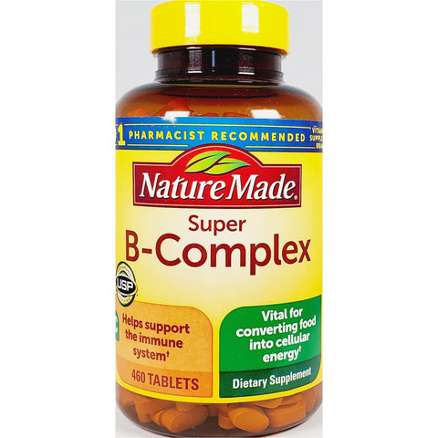 Nature Made Super B-Complex with Vitamin C (Immune Support), 460 Tablets