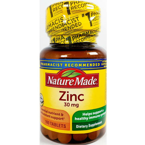 Nature Made Zinc Gluconate, 30 mg (Immune Support) 100 Tablets