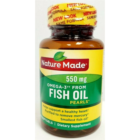 Nature Made Fish Oil Pearls W/ Omega 3 550 Mg 90 Softgels (1 Pack) Supplement