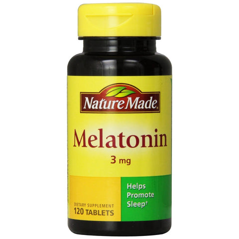 Nature Made Melatonin, 3 mg 120 Tablets (1 Pack) Sleep Aids