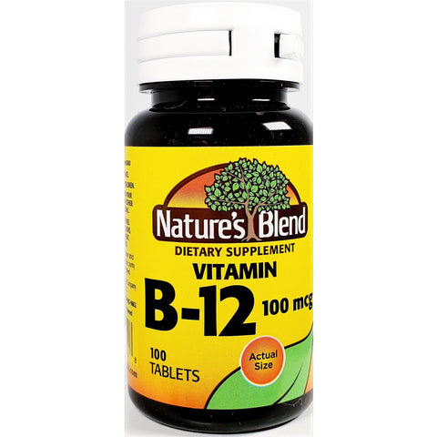Nature's Blend B12, 100 mcg 100 Tablets