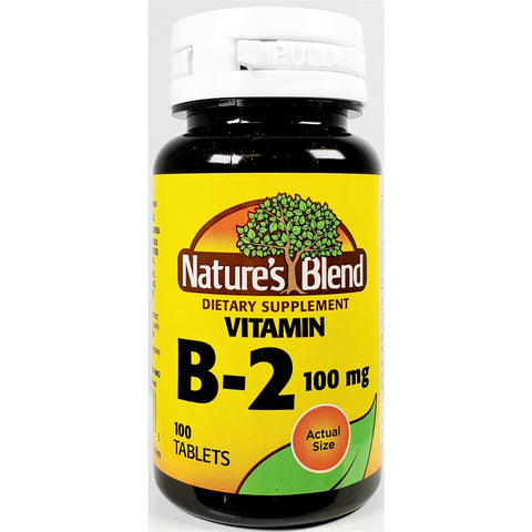 Nature's Blend B-2, 100 mcg 100 Tablets