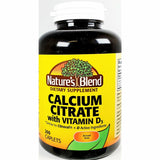 Nature's Blend Calcium Citrate, 630 mg with Vitamin D3 (Compare to Citracal + D) 200 Caplets