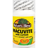Nature's Blend Macuvite with Lutein (Compare to Ocuvite), 60 Tablets