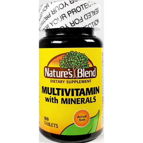 Nature's Blend Multivitamin with Minerals, 100 Tablets