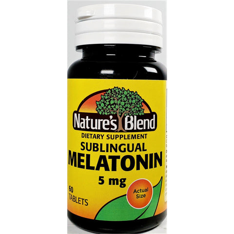 Nature's Blend Sublingual Melatonin, 5 mg 60 Tablets