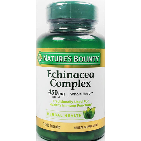 Nature's Bounty Echinacea Complex (Immune Support), 450 mg 100 Capsules