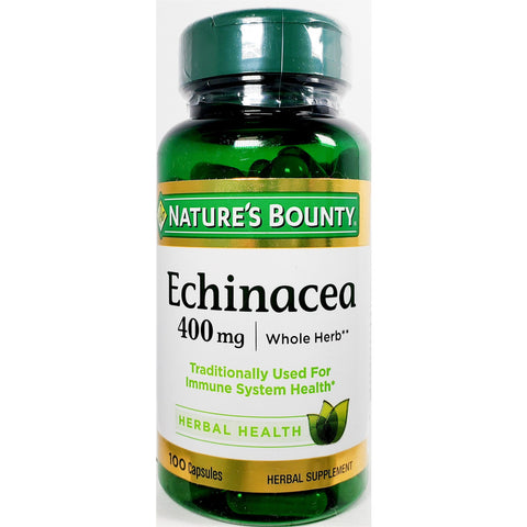 Nature's Bounty Echinacea (Immune Support), 400 mg 100 Capsules