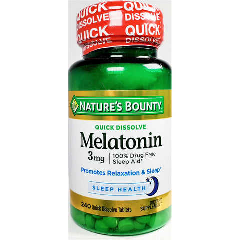 Nature's Bounty Melatonin, 3 mg (Quick Dissolve) 240 Tablets