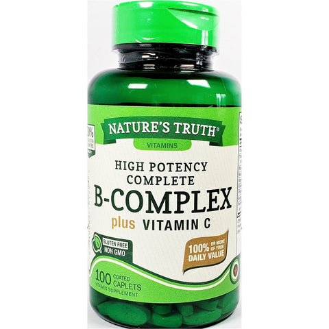 Nature's Truth B-Complex plus Vitamin C, 100 Coated Caplets