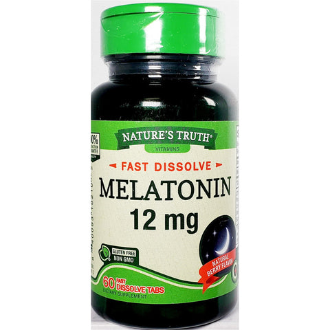 Nature's Truth Melatonin, 12 mg 60 Fast Dissolve Tabs