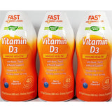 Vitamin D3 Liquid, by Nature's Way (Immune Support) 25 mcg, 16 fl oz each (3 Pack)