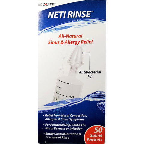Neti Rinse Sinus Rinse Kit, 50 Saline Packets