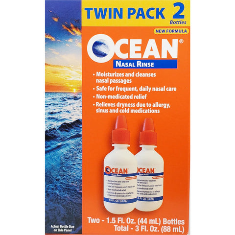Ocean Nasal Rinse, (Twin Pack) 2 -1.5 oz each