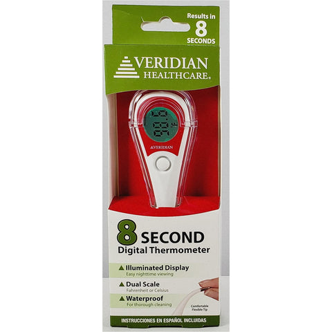 Oral Digital Thermometer by Veridian Healthcare (8 Second)