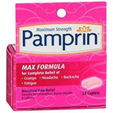 Pamprin Maximum Strength Menstrual Pain Relief, 24 Caplets (1 Pack)