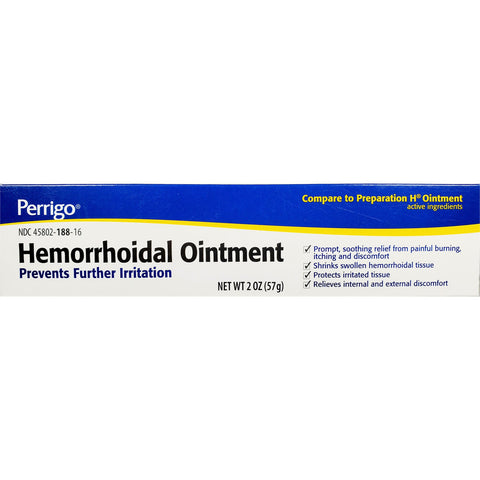 Perrigo Hemorrhoidal Ointment (Compare to Preparation H) 2 oz