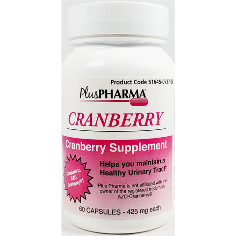 PlusPharma Cranberry Supplement, 425 mg 60 Capsules