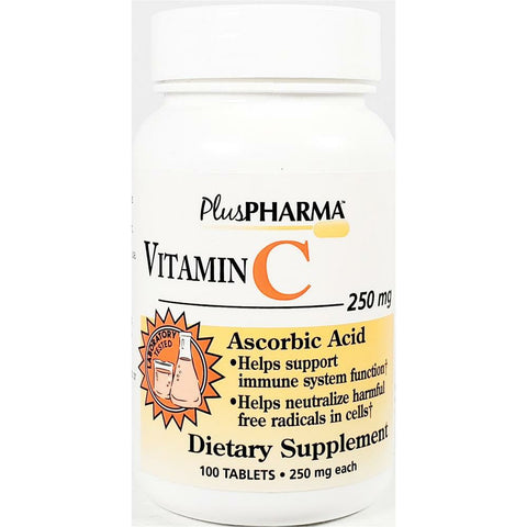PlusPharma Vitamin C, 250 mg (Immune Support) 100 Tablets