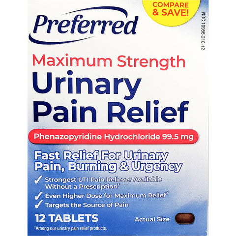 Preferred Urinary Pain Relief (Compare to Azo), 99.5 mg 12 Tablets