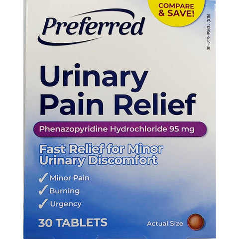 Preferred Urinary Pain Relief ( Compare To Azo) 95 Mg 30 Tablets Each (1 Or 3 Pack) 1 Pack & Fever