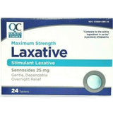 Qc Laxative Maximum Strength (Compare To Ex-Lax) 25 Mg 24 Tablets Each (1 Or 3 Pack) 1 Pack