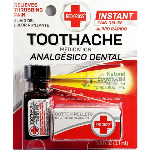 Red Cross Toothache Medication, 1/8 fl oz