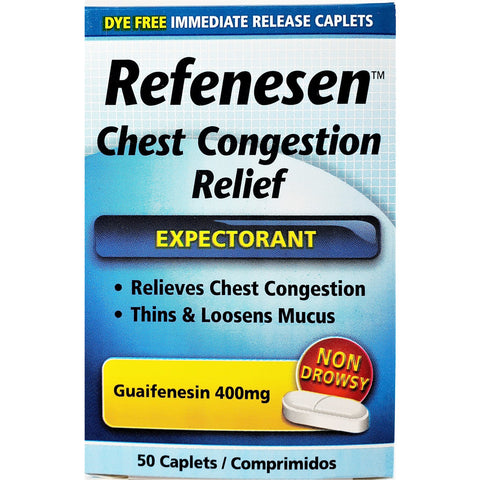 Refenesen Chest Congestion Relief, 400 mg 50 Caplets