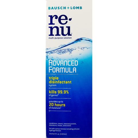 Renu Advanced Formula Contact Lens Solution, 4 fl oz