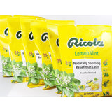 Ricola Lemon-Mint Cough Drops, 24 drops per bag (6 Pack)