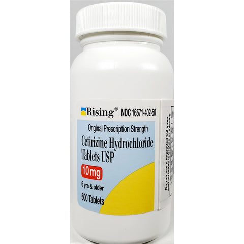 Rising Cetirizine, 10 mg 500 Tablets