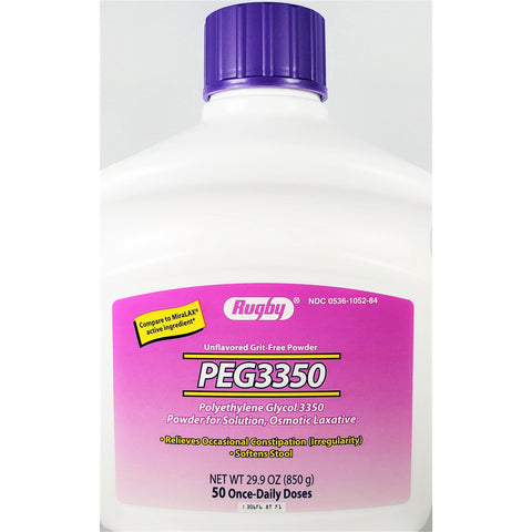 Rugby PEG3350 Polyethylene Glycol (Compare to MiraLAX) 29.9 oz