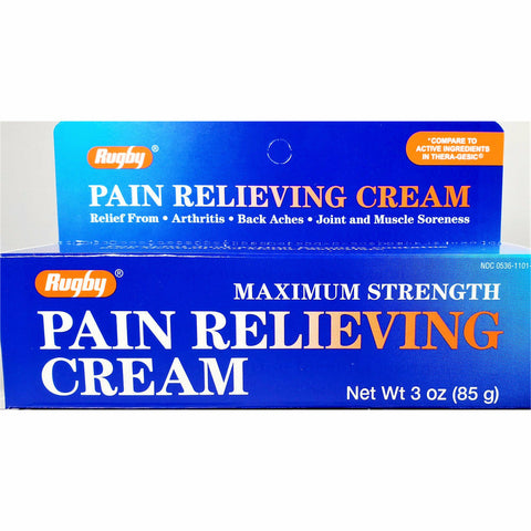 Rugby Pain Relieving Cream (Compare to Thera-Gesic) 3 oz