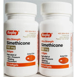 Simethicone, 180 mg 60 softgels each (2 Pack) by Rugby