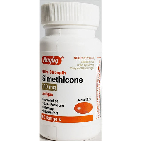 Simethicone, 180 mg 60 softgels by Rugby