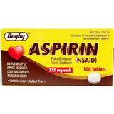 Rugby Aspirin (Compare To Genuine Bayer) 325 Mg 100 Tablets