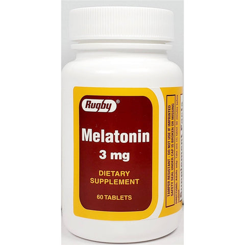 Rugby Melatonin 3 mg, 60 Tablets