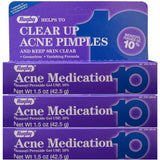 Rugby Acne Gel (Compare To Persa-Gel 10) 1.5 oz Each ( 3 Pack)