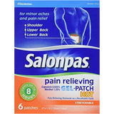 Salonpas Pain Relieving Gel-Patch Hot 6 Patches (1 Pack) & Rubs