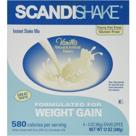 ScandiShake Vanilla Flavor, 3 oz 4 Each ( 1 Pack)