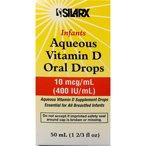 Silarx Infants Aqueous Vitamin D Oral Drops, 10 mcg (400 IU) 50 mL