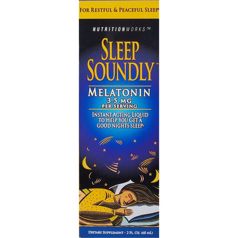Nutritionworks Sleep Soundly Melatonin Liquid, 3.5 mg 2 fl oz