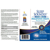 Sleep Soundly Melatonin Melts,  5 mg (Berry Flavor) 60 Tablets