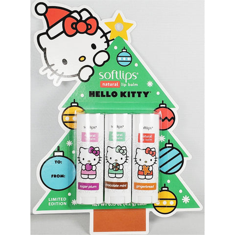 Softlips Hello Kitty Lip Balm (Limited Edition), 3 Pack - 0.15 oz each