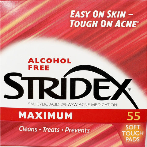 Stridex Acne Treatment Pads, Alcohol Free 55 Count