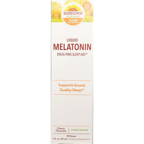 Sundown Liquid Melatonin (Cherry Flavor), 2 fl oz