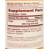 Sundown Folate, 1333 mcg (800 mcg of Folic Acid), 100 Tablets