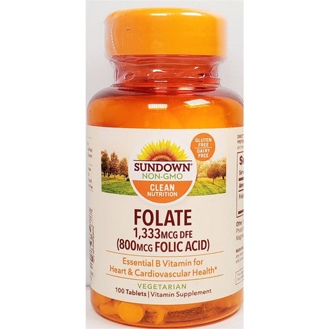 Sundown Naturals Folate, 800 mcg of Folic Acid
